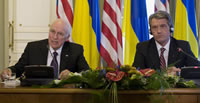 Vice President Cheney and President Yushchenko of Ukraine in Kiev, September 5, 2008.